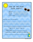 FREE Pool and Beach Theme Classroom Party Invitations