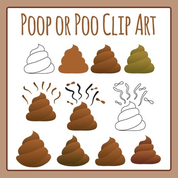 Poop or Poo Clip Art Set for Commercial Use