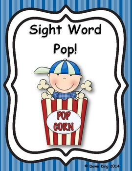Pop!  A Kindergarten Sight Word Game