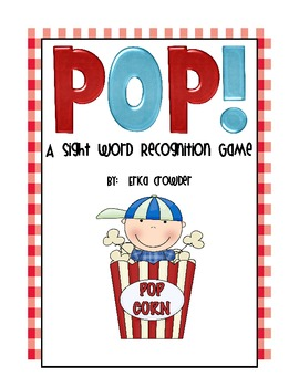 Pop!  A Sight Word Recognition Game {Freebie}