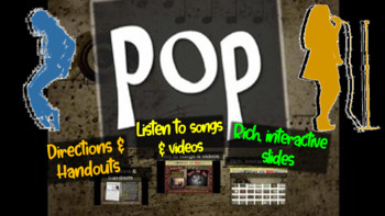 Pop: A comprehensive & engaging Music History PPT (links, handouts & more)