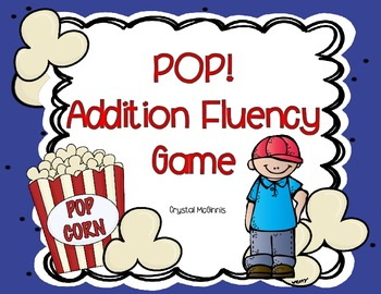 Pop! Addition Fluency Game (Sums to 10)