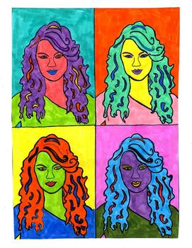Pop Art Activity,Famous Person,Andy Warhol Inspired,Follow Me,Some Are Free
