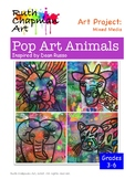 Pop Art Animals: Lions, Elephants, Leopards + Giraffes Art