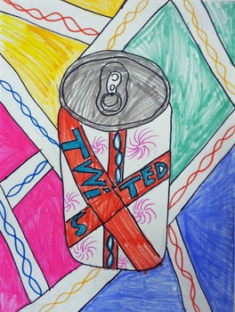 Art Lesson Printable: Pop Art inspired Soda Can