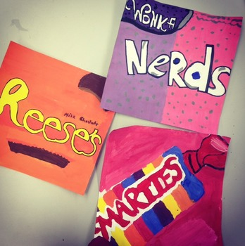 Pop Art Candy Paintings