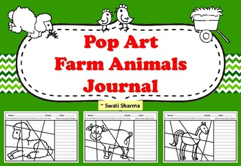 Pop Art Farm Animals Journal Worksheets