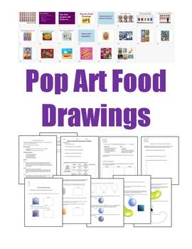 Pop Art Food Drawings