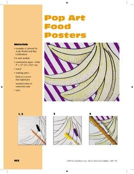 Pop Art Food Posters