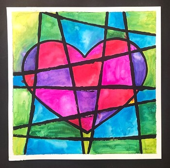 Pop Art Heart Painting Art Lesson