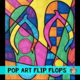 Pop Art Interactive Flip Flops - Great End of the Year Activity - FREE!