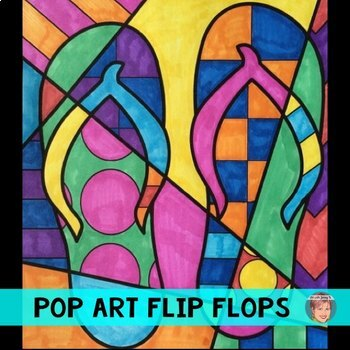 Pop Art Interactive Flip Flops Great End of the Year Activity