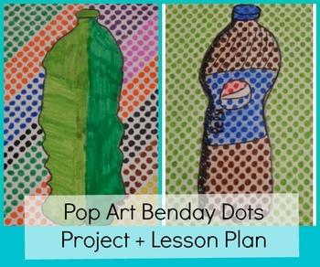 Pop Art Benday Dots Handout Lichtenstein Project Drawing Perspective Portraits
