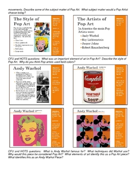 Pop Art Lesson and Project
