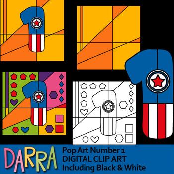 Pop Art Numbers Clip Art Superhero Color By Code Coloring (clipart bundle)