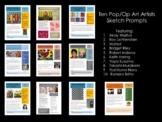 Pop Art/Op Art Sketchbook prompts Bundle:Middle & High School Art