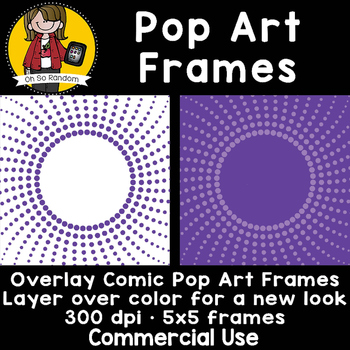 Pop Art Overlay Frame {Clip Art for CU}