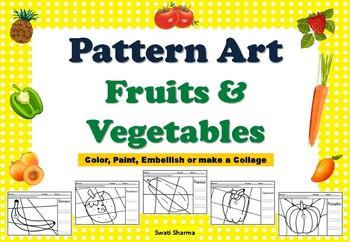 Food, Fruits and Vegetables Pop Art/Pattern Art