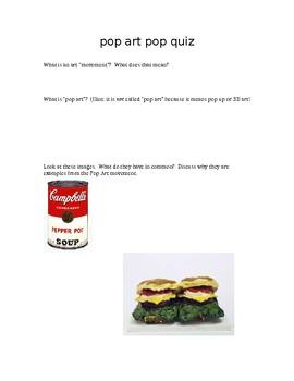 Pop Art Pop Quiz