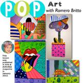 FREE Romero Britto - Art Lesson - Great Art Sub plan or lesson plan