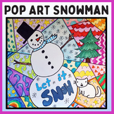 Winter Pop Art Snowman Art Project- Fun Winter Art Lesson