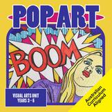 Pop Art, Visual Art Unit, Years 3 - 6