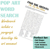 Pop Art Wordsearch