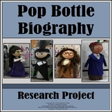 Biography Research Graphic Organizers (with pop bottle project)