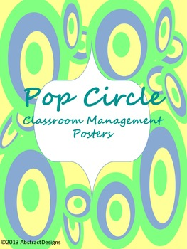 Pop Circle Classroom Management Posters