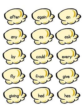 Pop Corn Sight Words -- First Grade