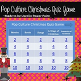 Pop Culture Christmas Quiz Game Grades 7 and Above