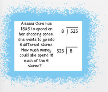 Pop Culture Long Division Word Problem Task Cards