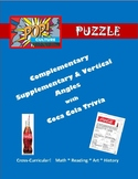 Complementary Supplementary & Vertical Angles - Pop Culture Puzzle-Coca-Cola Tri