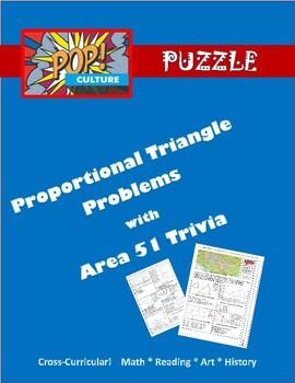 Pop Culture Puzzle - Complicated Similar Triangles - Area