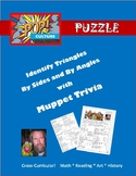Pop Culture Puzzle - Identify Triangles by Angle and Side - Jim Henson Muppets