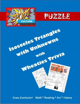 Pop Culture Puzzle - Isosceles Triangles with Unknowns - W