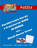 Parallel Lines Cut by Transversal w/Unknowns-Pop Culture P