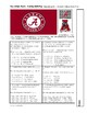 Pop Culture Puzzle - Slope-Intercept Form of a Line - U of Alabama Football