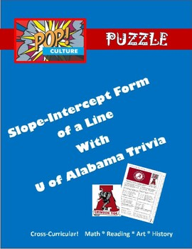 Pop Culture Puzzle - Slope-Intercept Form of a Line - U of