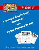 Pop Culture Puzzle - Triangle Angle Sum Theorem with Algeb