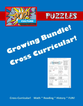 Pop Culture Puzzles GROWING BUNDLE - currently included first 10 puzzles