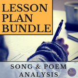 Pop Culture Song and Poem Analysis Lesson Plans