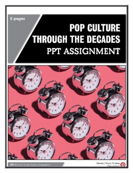 Pop Culture Through the Decades PPT Assignment
