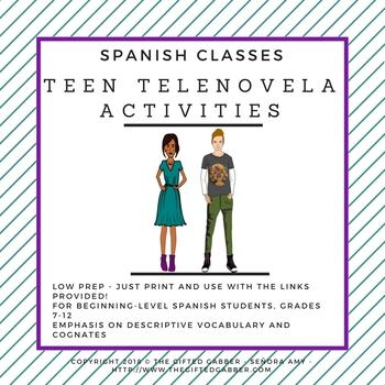 Telenovela Activities for Spanish Class