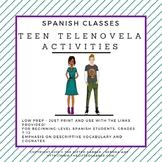 Telenovela Activities for Spanish Class - Descriptive Adjectives Focus