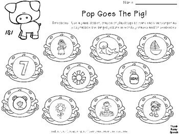 Pop Goes The Pig - Game Companion/Articulation Activity