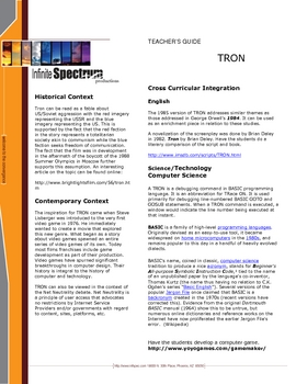 Pop Goes the Classroom Media Guide: TRON