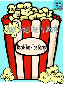 Pop Goes the Fry Words Read-Tac-Toe Game