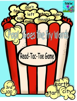 Pop! Goes  the Fry Words Read-Tac-Toe Game 3