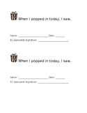 Pop-In Classroom Observation Form